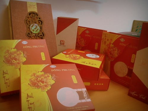 Moon Cake at Indochina Voyages Office. Thanks to Indochina Junk, King Express Train and Mr. Tim Lee